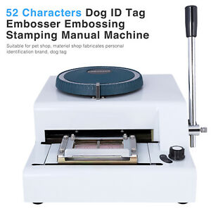 52 Characters Code Metal Dog Id Tag Embosser Embossing Stamping Manual Machine