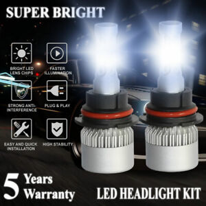 9007 Hb5 Led 2000w 300000lm Headlight Conversion Kit White 6000k Hi Lo Beam Bulb