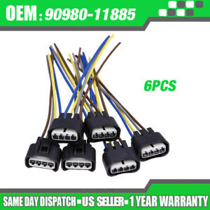 6 Connector Plug Harness Ignition Coil 90980 11885 For Toyota Lexus 4 way Female
