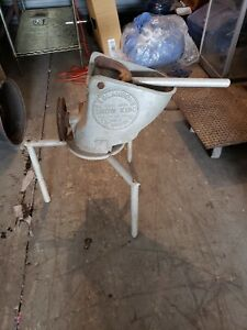 Old Antique C c Clawson s Snow King Model No 1 Ice Shaver Industrial Soda Shop
