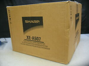 Sharp Xe a507 Electronic Cash Register With Barcode Scanner