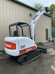 Bobcat 331g Mini Excavator Rubber Track Low Hours Blade Tooth Bucket