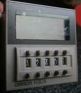 Omron H3ca Timer Module Withn Mounting Bracket And Socket