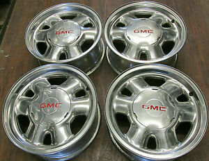 Chevy Gmc Truck Van Suv 16 Inch Factory Oem Polished Alloy Wheels Rims 5095
