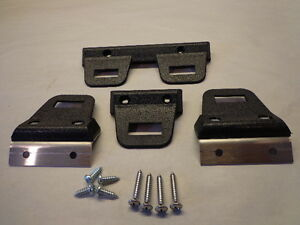68 70 Mopar A B Body Charger Gtx Dart Black Bucket Rear Seat Belt Clips