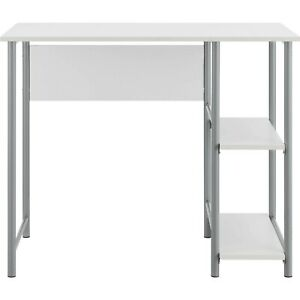 Ameriwood Home Garrett Metal Office Desk With 2 Side Shelves Multiple Colors