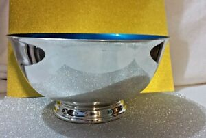 Paul Revere Reed Barton Silver Plated 8 Bowl Blue Enamel Color Interior 104
