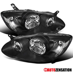For 2003 2008 Toyota Corolla 4door Sedan Black Headlights Lamps Left Right