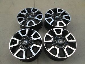 18 Toyota Tundra Trd Oem Factory Wheels Rims Set 4 Black