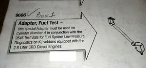 2005 2006 Jeep Liberty 2 8l Diesel Engine Fuel Test Adapter Special Tool