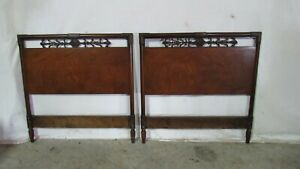 Beacon Hill Pair Twin Beds Headboards Mahogany Chippendale Set