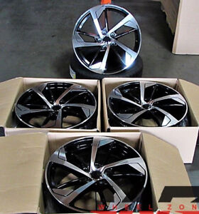 18 Wheels Fit Audi A4 A5 S4 A6 Vw Passat Gti 18x8 35 5x112 Black Rims Set 4