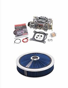 Edelbrock 1406b 600cfm Vacuum Secondary Carburetor With Air Cleaner