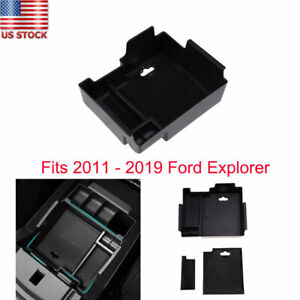 For Ford Explorer 2013 2018 Armrest Console Storage Box Pallet Container Black
