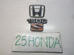 1985 Honda Civic Hatchback 1500 S Emblem Set Oem Jdm Rare 1g Access Si