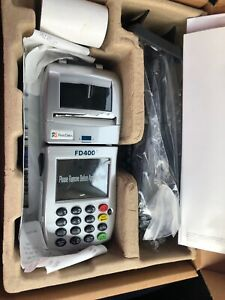 First Data Fd 400ti Wireless Credit Card Terminal Including Power Cord