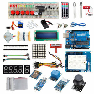 Uno R3 Starter Kit For Arduino 1602lcd Servo Ultrasonic Motor Led Relay Rtc N2i6