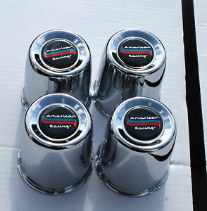 Set Of 4 American Racing Chrome Wheel Center Caps 2 11 16 898057 Are