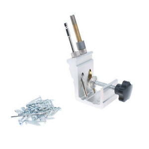 Aluminum Alloy Pocket Hole Jig Metal Drill Guide With Woodworking Clamp And 9 5m