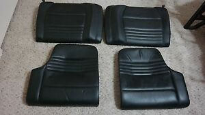 Porsche 911 996 Oem Factory Original Equipment Black Leather Complete Rear Seat
