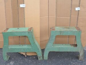 2 Lancaster Cast Iron Leg Table Dining Desk Collectible Steampunk Industrial L2