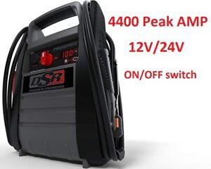 Heavy Duty Truck Battery Booster Pack Jump Starter Box Portable 4400 Amps Power