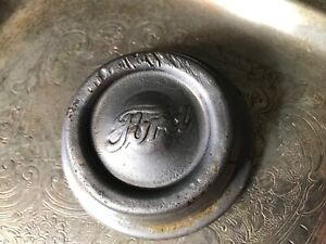 Vintage Script Ford Center Wheel Axle Dust Grease Cover Hub Cap