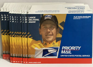 Lot Of 12 Lance Armstrong 2000 Tour De France Usps Priority Mail Envelope