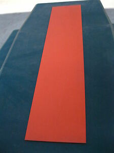 Lot Of 5 Orange Kydex Thermoforming Plastic Approximately 48 By 10 By 3 16