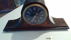 Rare Vintage Chelsea Ships Clock Us Government 24 Hour Key Mounted Working