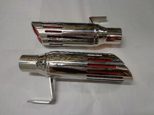 71 74 Road Runner Charger Stainless Exhaust Tips 2 1 4 Inch