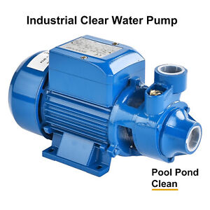 1 2hp Electric Industrial Centrifugal Clear Clean Water Pump Pool Pond