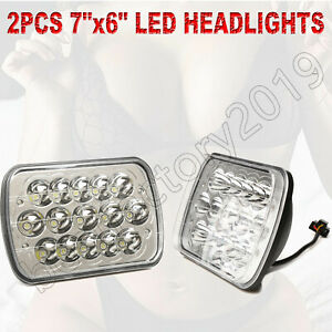 2pc 45w 6x7 5x7 Led Projector Headlight High Low Beam Light For Jeep Offroad