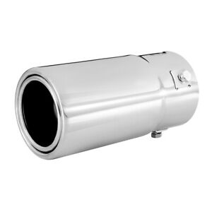 Car Muffler Tip Exhaust Pipe Stainless Steel Chrome Effect Fit 1 25 2 5 Inch