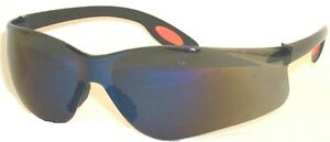 Aries Ansi Z87 Safety Shooting Glasses Blue Mirror Lenses S1012m 10 Pairs