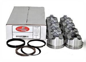 Piston Ring Kit Chevy 327 Flat Top 4v 040 Moly Rings Enginetech