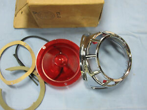 Nos 1963 Chrysler 300 New Yorker Newport Tail Lamp Light Lens Bezel Rh 2448638