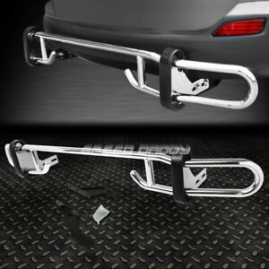 For 06 12 Toyota Rav 4 Stainless Steel Double Bar Rear Bumper Protector Guard