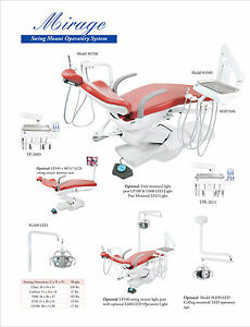 Tpc Dental Mirage Mp2015 600led Chair Mounted Operatory System With Cuspidor