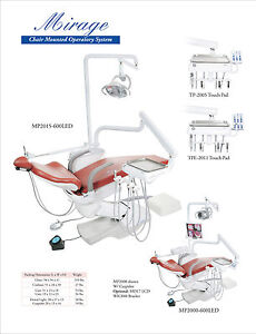 Tpc Dental Mirage Mp2015 600led Chair Mounted Operatory System No Cuspidor