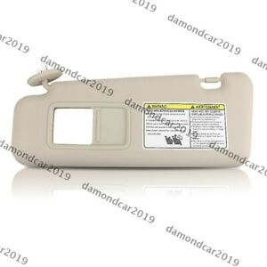 Beige Left Driver Side Sun Visor For Toyota Highlander 2008 2013 W Vanity Light