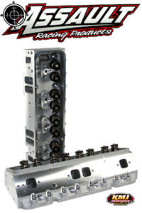 Sbc Small Block Chevy Aluminum Cylinder Heads Complete 200cc 64cc W 3 8 Studs