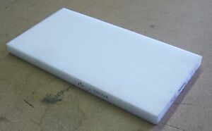 Delrin Pom Sheet 1 Thick 16 X 8 White Thermoplastic Poly Cut Plastics