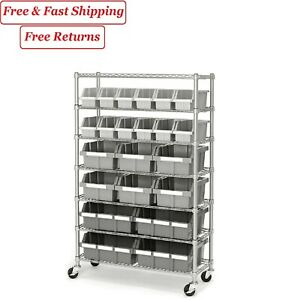 Member s Mark Commercial Bin Rack W Wheels 22 Bins