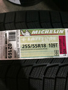 1 New 255 55 18 Michelin Latitude X ice Xi2 Snow Tire