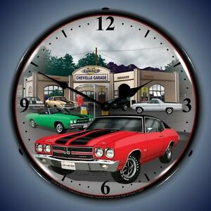 New 1970 Chevrolet Chevelle Muscle Car Lighted Clock Fast Ship Warranty Usa Made