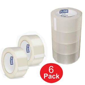 Uline 6 Rolls Clear Industrial Tape 1 8 Mil 2 X 110 Yds Sealing Carton Packing