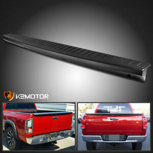 2002 2008 Dodge Ram 1500 Black Tailgate Molding Protector Cap Abs Spoiler Cover