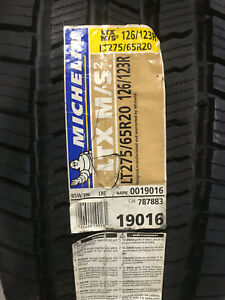 2 New Lt 275 65 20 Lre 10 Ply Michelin Ltx M S2 Tires