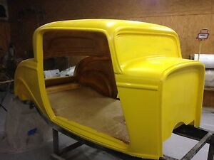 1932 32 Ford Replacement Three Window Coupe Fiberglass Body